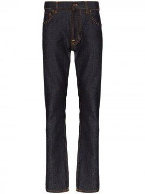 Джинсы Lean Dean Dry кроя слим Nudie Jeans. Цвет: синий