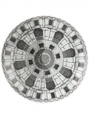 Тарелка с принтом Cortili Fornasetti. Цвет: черный
