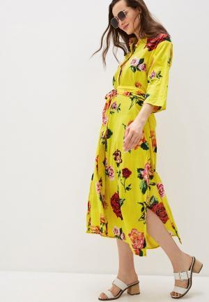Платье пляжное Allegri. Цвет: желтый