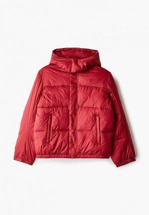 Куртка утепленная Emporio Armani. Цвет: красный