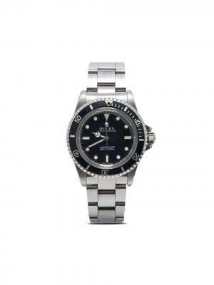 Наручные часы Submariner 40 мм 1987-го года Rolex. Цвет: черный