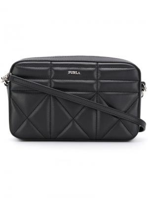 Стеганая сумка через плечо Fortuna Furla. Цвет: черный