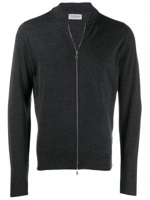 Куртка-бомбер Maclean John Smedley. Цвет: серый