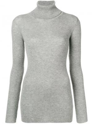 Ribbed knit roll neck sweater Iris Von Arnim. Цвет: серый