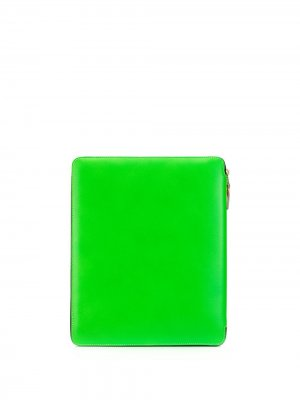 Чехол для ноутбука в стиле колор-блок на молнии Comme Des Garçons Wallet. Цвет: зеленый