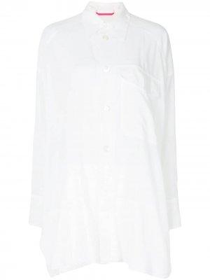 Ys полупрозрачная длинная рубашка Y's. Цвет: белый