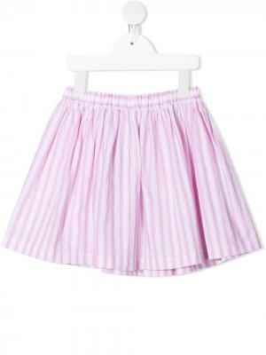 Юбка мини в полоску Douuod Kids. Цвет: розовый