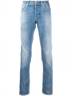 Прямые джинсы с завышенной талией Dondup. Цвет: синий