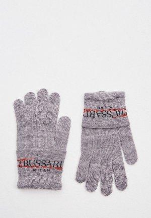 Перчатки Trussardi Jeans. Цвет: серый