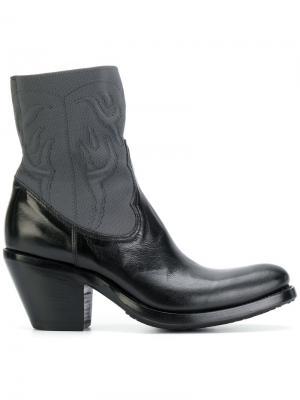 Ботинки в ковбойском стиле Rocco P.. Цвет: черный