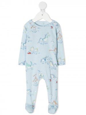 Пижама с принтом Stella McCartney Kids. Цвет: синий