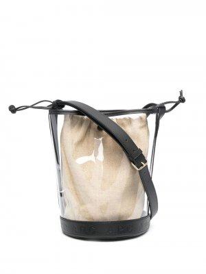 Сумка-ведро с тисненым логотипом A.P.C.. Цвет: черный