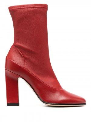 Ботильоны-носки Lesly Wandler. Цвет: красный