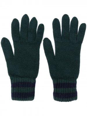 Трикотажные перчатки Pringle of Scotland. Цвет: зеленый