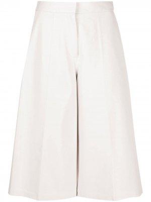 Укороченные брюки палаццо Desa 1972. Цвет: белый