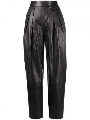Зауженные брюки с завышенной талией Alberta Ferretti. Цвет: черный