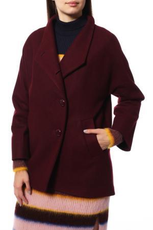 Пальто КОРУ-СТИЛЬ. Цвет: irbis maroon