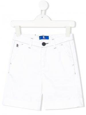 Embroidered logo bermudas Stefano Ricci Kids. Цвет: белый