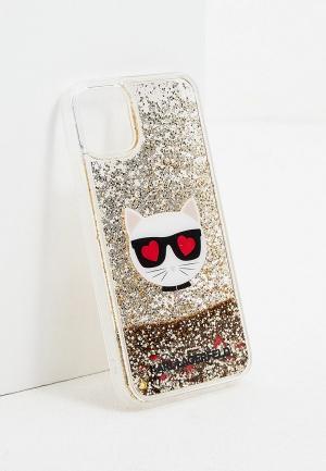 Чехол для iPhone Karl Lagerfeld. Цвет: золотой