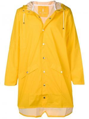 Water-resistant hooded coat Rains. Цвет: желтый