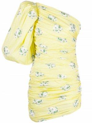Balloon-sleeve asymmetric dress Giuseppe Di Morabito. Цвет: желтый