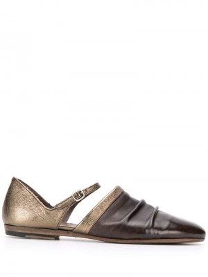 Туфли с закругленным носком Pantanetti. Цвет: нейтральные цвета