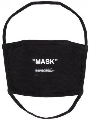 Маска для лица с принтом Mask Off-White. Цвет: черный