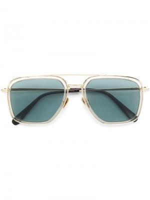 Oversized square-shape sunglasses Brioni. Цвет: металлик