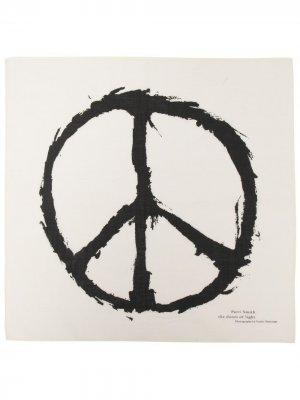 Платок с принтом Patti Smith Peace UNDERCOVER. Цвет: нейтральные цвета