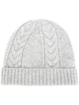 Трикотажная шапка N.Peal. Цвет: серый