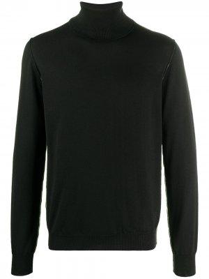 Джемпер тонкой вязки с высоким воротником Dondup. Цвет: черный