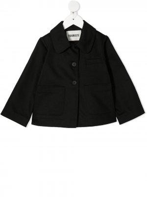 Куртка на пуговицах с логотипом Touriste. Цвет: черный