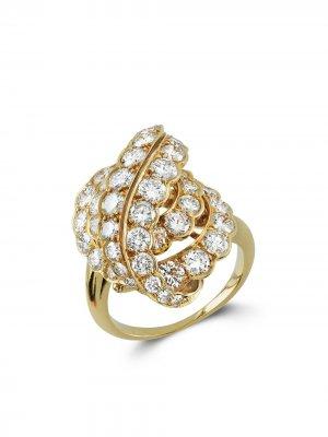 Кольцо 1941-1960-х годов из желтого золота с бриллиантами Van Cleef & Arpels. Цвет: золотистый