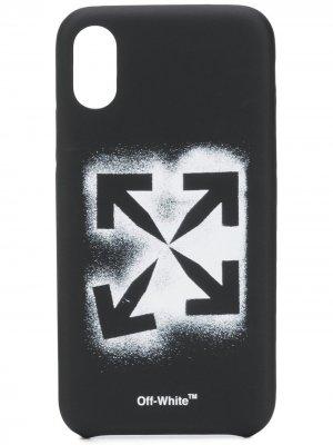Чехол для iPhone XS с принтом Arrows Off-White. Цвет: черный