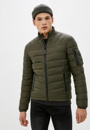 Куртка утепленная Replay. Цвет: хаки