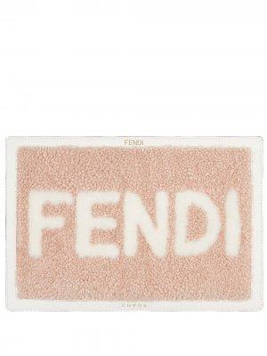 Чехол для ноутбука с логотипом Fendi. Цвет: розовый