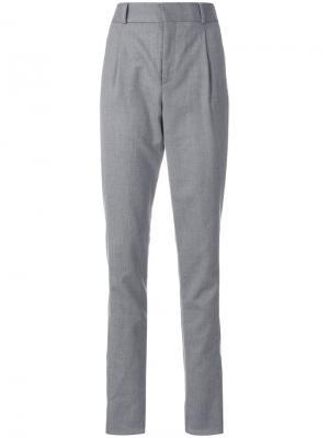 Прямые брюки Saint Laurent. Цвет: серый