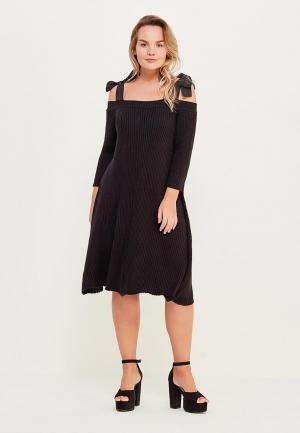 Платье Lost Ink Plus. Цвет: черный
