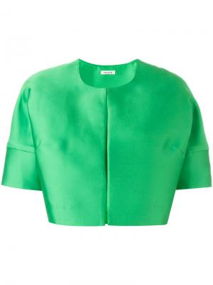 Укороченный пиджак P.A.R.O.S.H.. Цвет: зеленый