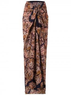 Пляжная юбка Paquistão с принтом Isolda. Цвет: разноцветный