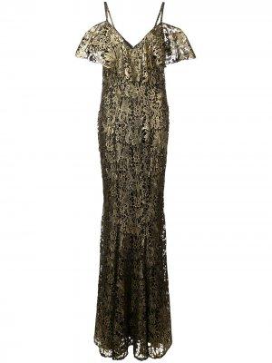 Платье Mary Zac Posen. Цвет: черный