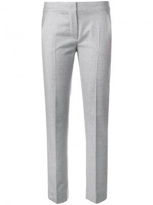 Прямые строгие брюки Max Mara. Цвет: серый