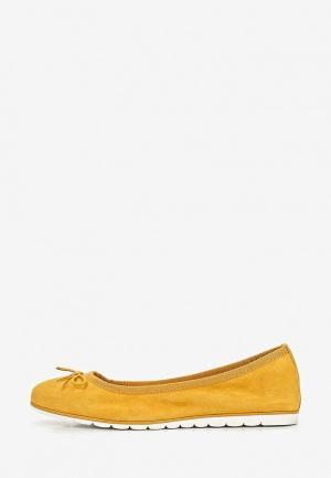 Балетки Marco Tozzi. Цвет: желтый