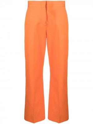 Укороченные брюки MSGM. Цвет: оранжевый