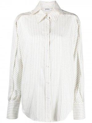 Рубашка оверсайз в тонкую полоску Krizia. Цвет: нейтральные цвета