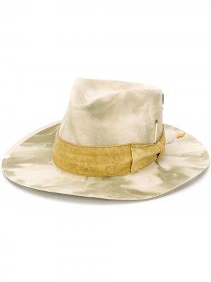 Шляпа Samos с камуфляжным принтом Nick Fouquet. Цвет: нейтральные цвета