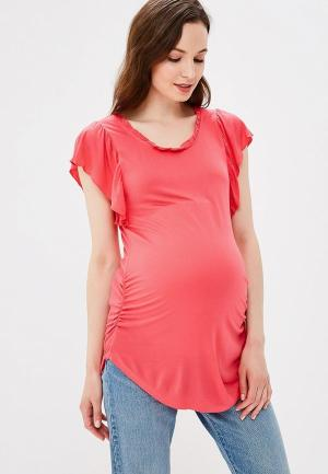 Футболка Gap Maternity. Цвет: розовый