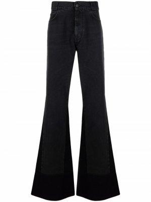 Расклешенные джинсы Raf Simons. Цвет: черный