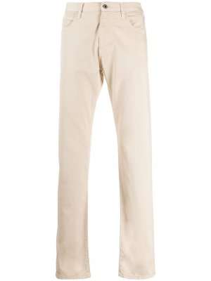 Прямые джинсы Emporio Armani. Цвет: нейтральные цвета