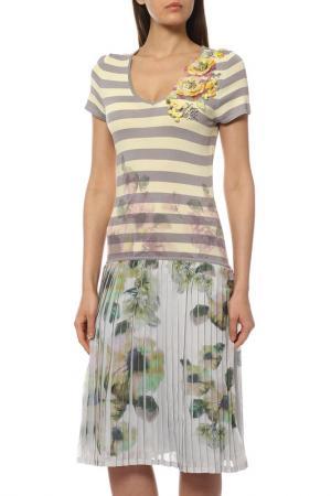Платье PHILIPPE CARAT. Цвет: желтый